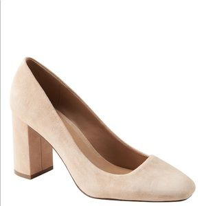 NEW Banana Republic Beige Suede Pumps Size 10